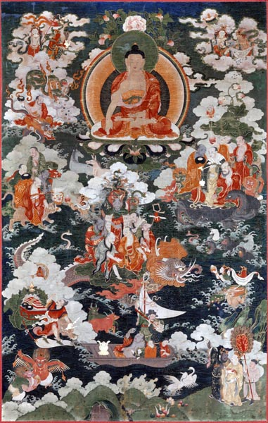 Buddha Shakyamuni and the Eighteen Arhats