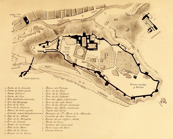 Plano de la Fortaleza de la Alhambra