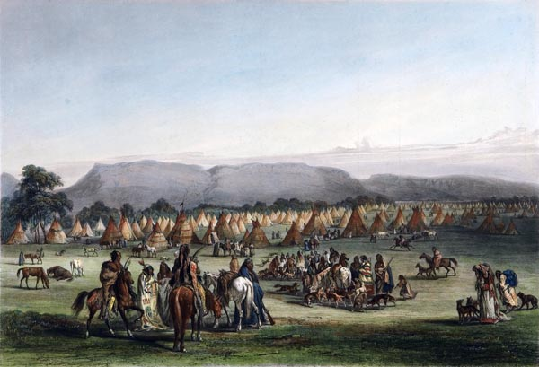 Encampment of the Piekann Indians