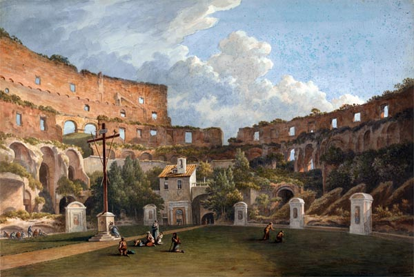 An Interior View of the Colosseum, Rome