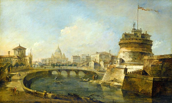 Fanciful View of the Castel Sant'Angelo, Rome