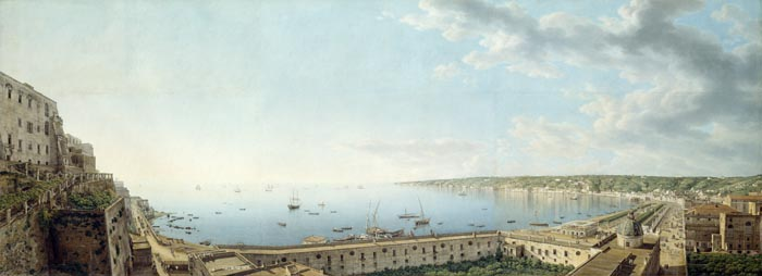 A View of the Bay of Naples, Looking Southwest from the Pizzofalcone towards Capo di Posilippo