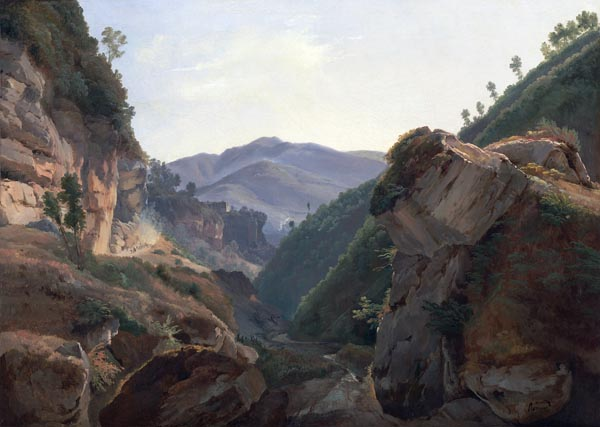 Mountain Landscape with Road to Naples