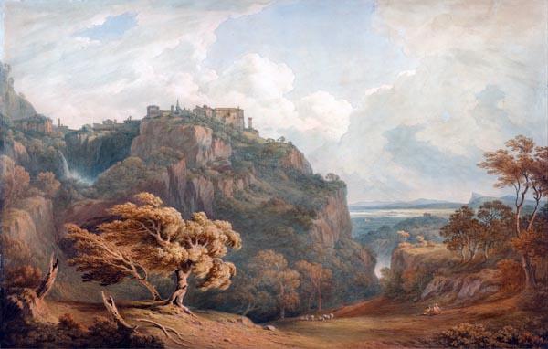 A View of Tivoli Looking Towards Rome