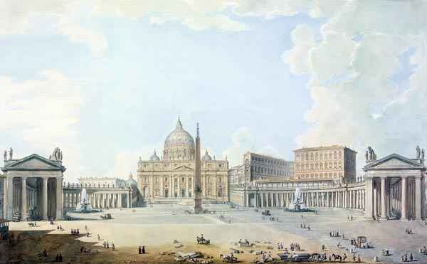St. Peter's, the Basilica and the Piazza