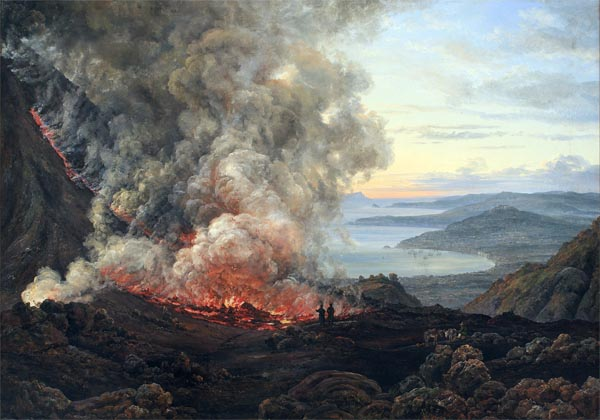 Eruption of the Volcano Vesuvius, 1821