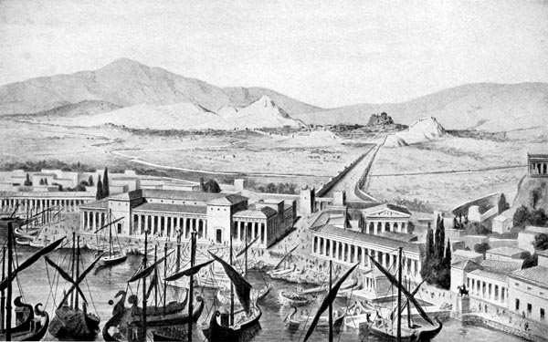 The Piraeus and the Long Walls of Athens (A Restoration by Thiersch)
