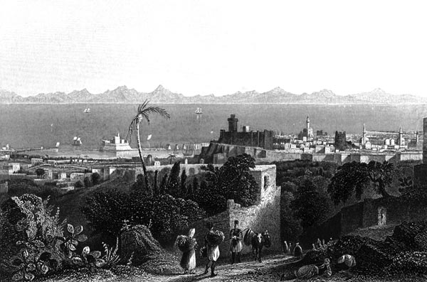 Rhodes, from the Heights Near Sir Sidney Smith's Villa