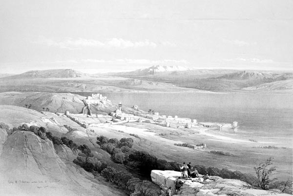 Tiberias, Looking Towards Hermon
