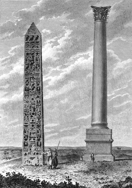 Cleopatra's Needle, Pompey's Pillar