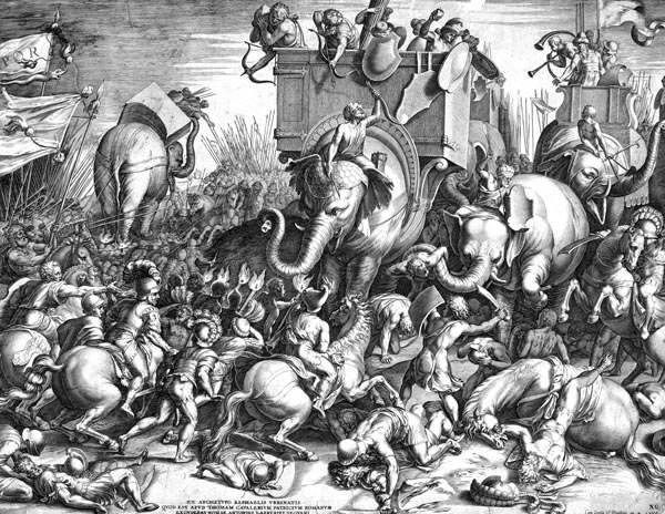The Battle of Zama Between Scipio and Hannibal