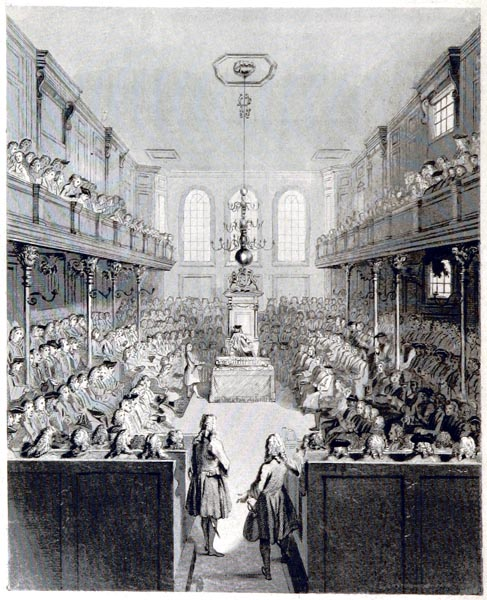 Interior of the House of Commons in 1690