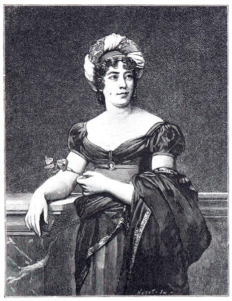 Mme de Staël, d'Après le Portrait Peint par le Baron Gérard