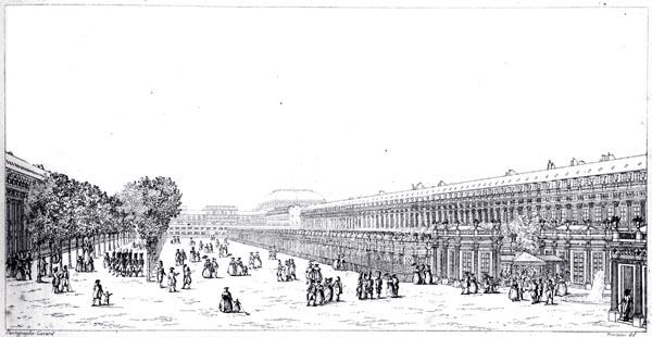 Vue Exterieure du Cirque du Jardin du Palais Royal 1799