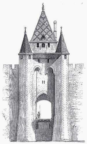 L'Élévation Extérieure de la Porte de Villeneuve-sur-Yonne