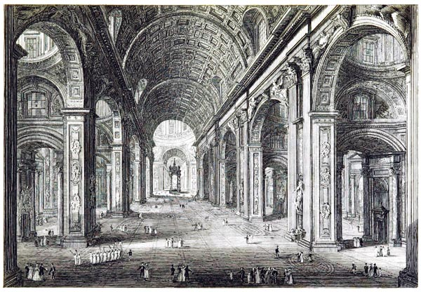 Interior of St. Peter's at Rome