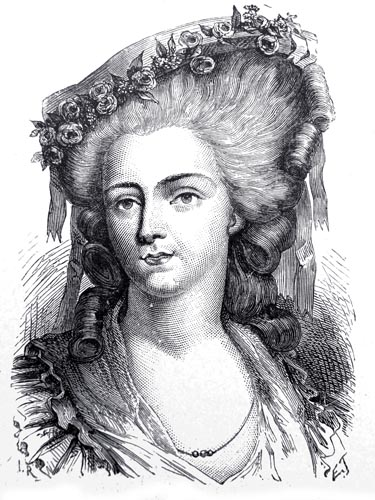 Madame de Lamballe, Engraved by E.Thomas from the Design by H. Rousseau