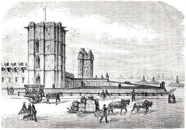 Vue du Donjon de Vincennes
