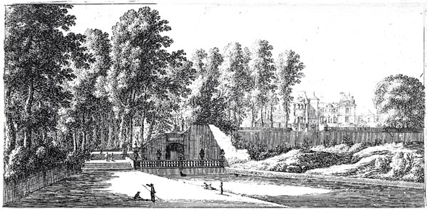 View of the Château de Saint-Cloud at Paris