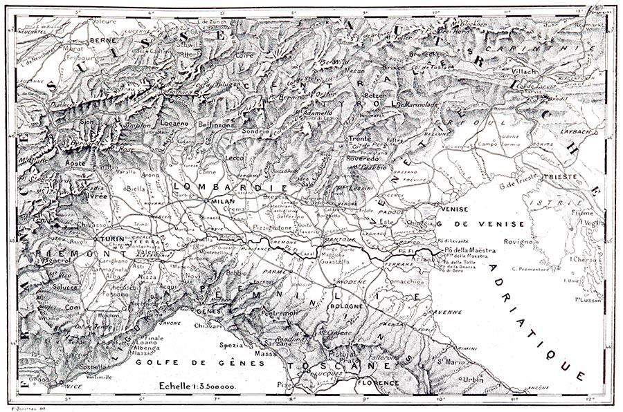 Carte Générale pour l'Histoire des Campagnes d'Italie