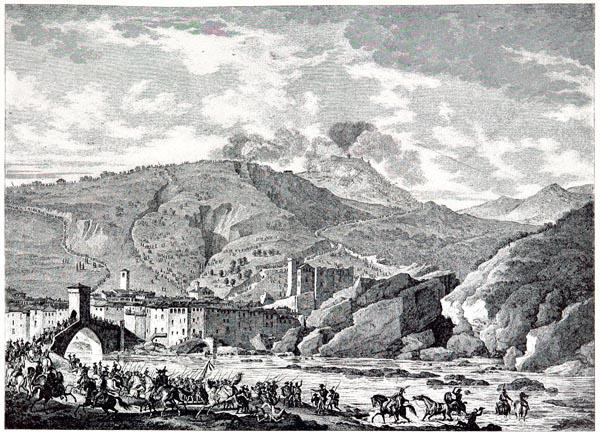Bataille de Milessimo (14 Avril 1796). Dessiné par Carie Vernet, Gravé par Duplessis-Bertaux