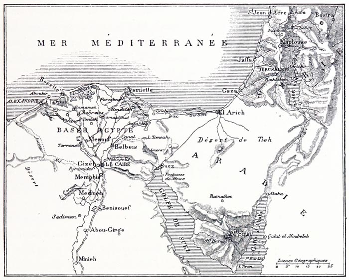 Carte de la basse Égypte