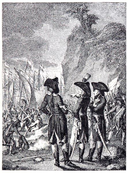 Bonaparte Débarque en Égypte, d'Après une Gravure de la Collection Hennin