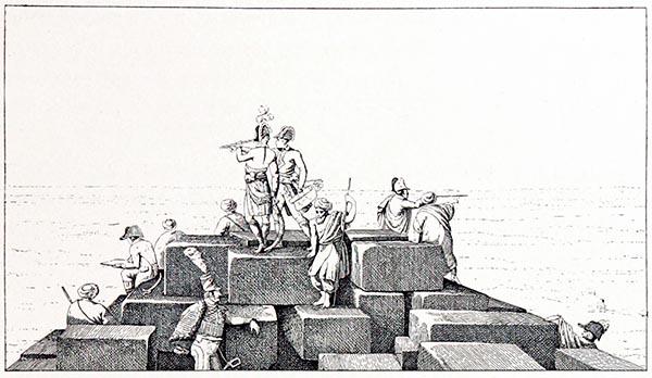 Bonaparte sur la Plus Haute des Pyramides d'Égypte, Gravure de la Collection Hennin