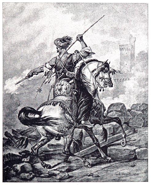 Mameluck au Combat, d'Après un Dessin de Carie Vernet, Gravé par Jazet