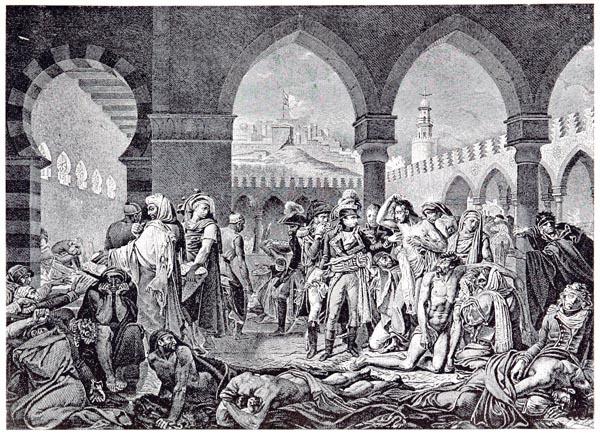 Bonaparte Visitant les Pestiférés de Jaffa. Tableau de Gros. Musée du Louvre