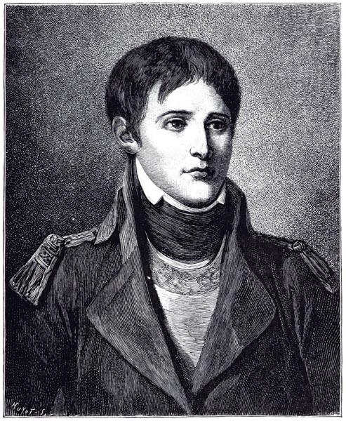 Bonaparte Lieutenant d'Artillerie. Peint par Greuze