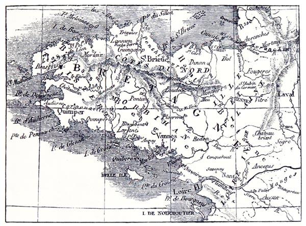 Carte de Brétagne