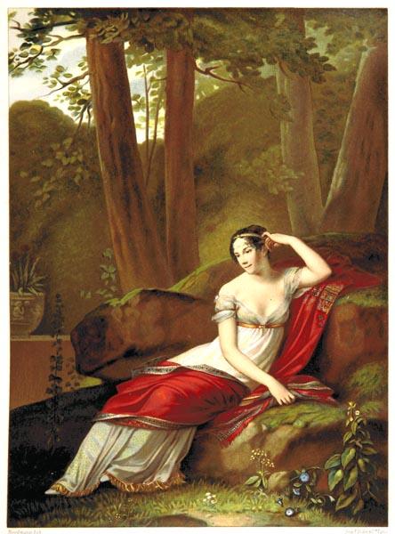 L'Impératrice Joséphine dans le Parc de la Malmaison, Tableau de Pierre Prud'Hon, Musée du Louvre.