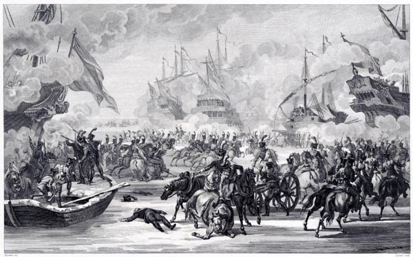 Conquest of the Fleet in Den Helder by the French, 1795