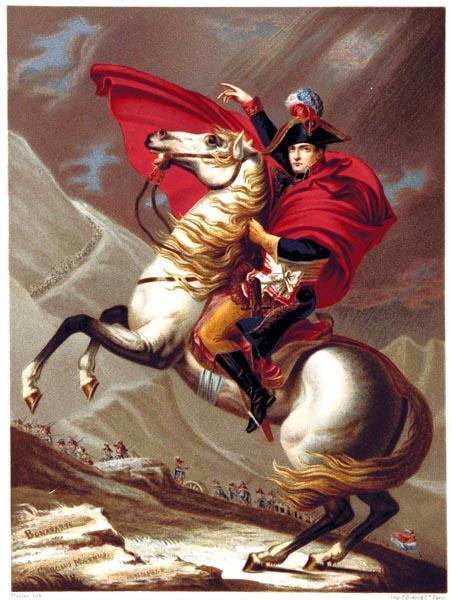Le Premier Consul Franchissant le Mont Saint Bernard, Tableau de David, Musée de Versailles