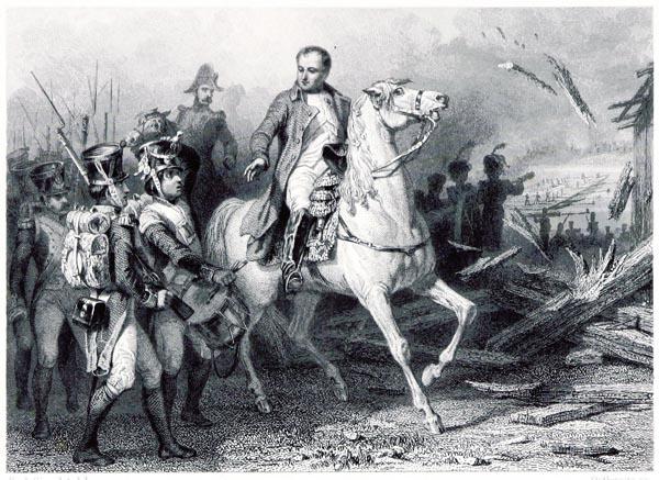 Napolean au Passage de l'Elbe