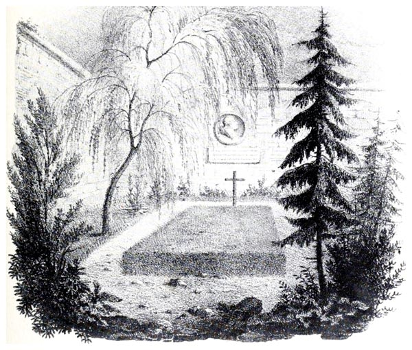 La Tombe du Roi au Cimetière de la Madeleine en 1814, d'Après un Dessin du François-Alexandre Pernot
