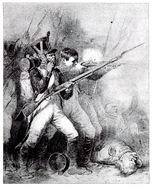 Campagne de Saxe, Les Conscrits de 1813. Peint par Raffet, Lithographié par Llanta
