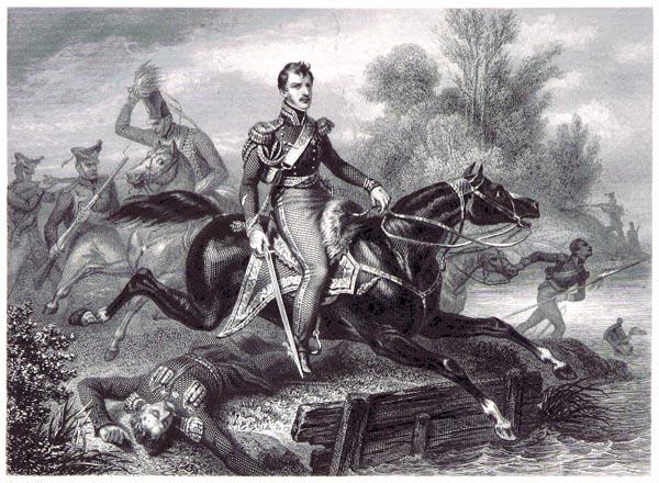 Poniatowski - Mort en Traversant l'Elster, le 19 octobre 1813
