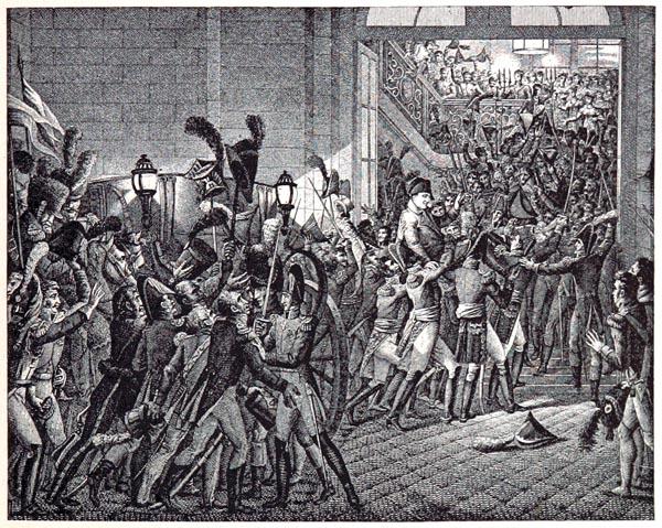 Retour de Bonaparte, le 20 mars 1815, d'Après un Dessin de Heim. Gravé par Couché Fils