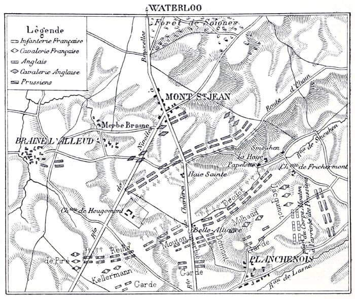 Plan de la Bataille de Waterloo