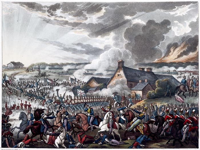 The Battle of Waterloo, June 18th 1815. Depicting Arthur Wellesley, the Duke of Wellington