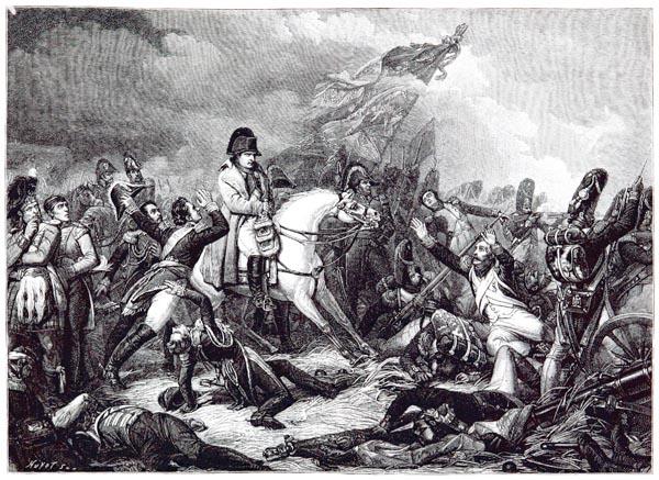Bataille de Waterloo (18 juin 1815). Peint par Steuben, Gravé par Jazet