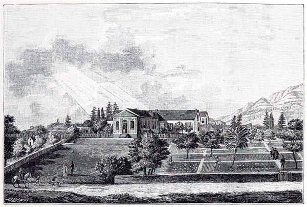 Vue de Longwood. Dessinée d'Après Nature (Sainte-Hélène, 1820)
