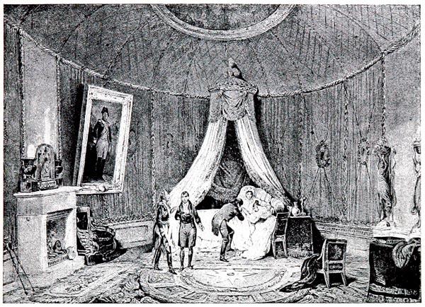 Mort de l'Impératrice Joséphine à la Malmaison, d'Après le Dessin et la Lithographie de Tirpenne et Monthelier (Collection Hennin)