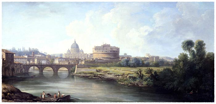 View of the Castel Sant'Angelo in Rome