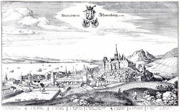 Neuchâtel au Dix-Septième Siècle, d'Après Merian