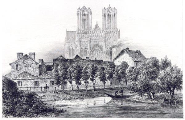 Notre Dame Cathedrale de Rheims, Vue Prise des Lavoirs