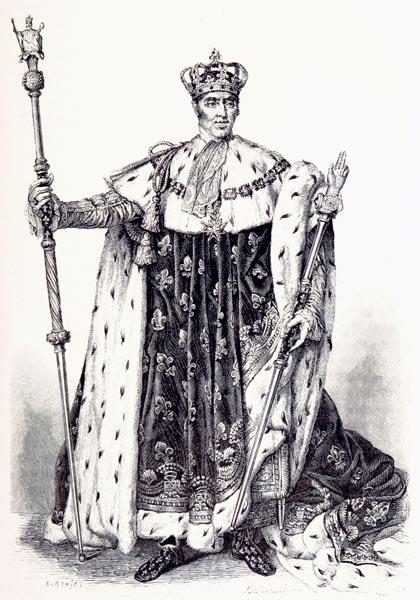 Charles X, d'Après un Portrait de Gérard