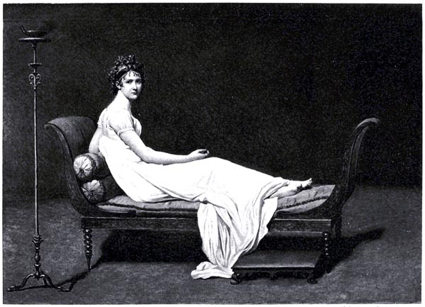 Madame Recamier, after Jacques-Louis David